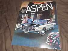 1979 Dodge Aspen Color Brochure Catalog Prospekt