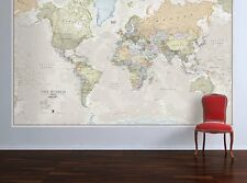 Enorme Classic World Map-Laminato