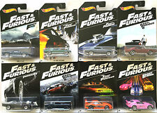 2016 Hot Wheels FAST and FURIOUS 8 CAR SET - FORD CHEVY DODGE TOYOTA & HONDA
