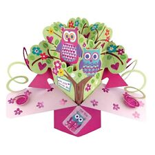 Owls Birthday Pop-Up Greeting Card Original Second Nature 3D Pop Up Cards