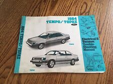 1984 FORD TEMPO MERCURY TOPAZ ELECTRICAL & VACUUM TROUBLE-SHOOTING WIRING MANUAL