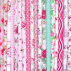 PINK - BIG BUNDLE NEW 100% COTTON FLORAL FABRIC MATERIAL REMNANTS OFFCUTS