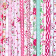 Rose - Nouvea Lot Tissu 100% Coton Floral Matériel Restes Chutes