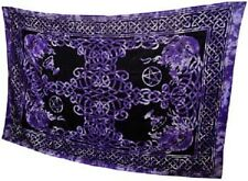 """Purple Celtic God Tapestry Blanket 72 x 108"""" Wiccan Pagan Altar Supply WTCK"""