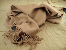 Men's Burberry's 100% Lambswool Wool Scarf Khaki Brown Burberry
