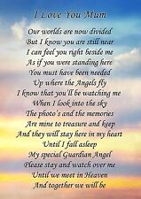 I Love You Mum Memorial Graveside Poem Card & Free Ground Stake F155