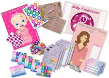 BABY Shower Party Game - 6 GIOCHI-rosa / ragazza-fino a 20 Giocatori Gratis P&P