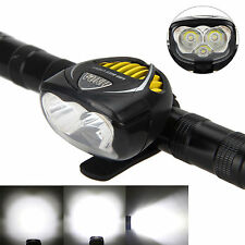 6000Lm 3x CREE XM-L T6 LED Front Bicycle Light Bike Head Torch HeadLight Lamp BL