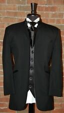 MENS 42 R  JEAN YVES MIRAGE BLACK MANDARIN COLLAR TUXEO JACKET  MODERN SLIM FIT