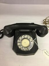 VINTAGE COLLECTIBLE BLACK DESK ROTARY DIAL PHONE, 868-I