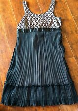 Girls JUSTICE Dressy Size 16 Black Pleated Fancy Party Formal Dress Pink Free Sh