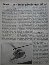 10/1982 ARTICLE 5 PAGES AEROSPATIALE HELICOPTERE TWIN SQUIRREL ECUREUIL 2