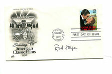 Autograph ROD STEIGER on FDC American Films 1990 Actor