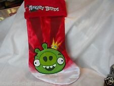 Christmas Stocking, Angry Birds 2012 Commonwealth Toys, Fully Lined, EUC
