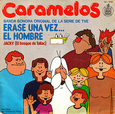 "7"" CARAMELOS erase una vez el hombre TVE TV KIDS 45 SPAIN 1979 SINGLE DE ANGELIS"