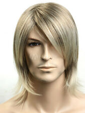 Hot Fashion wig New sexy Men's long Mix Blonde Anti- Alice Natural Hair wigs