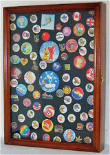 Pin and Medal  Display Case Wall Cabinet  with Glass Door, PC01-WALN