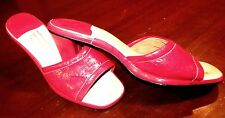 Shoes 1970's Style Jc Penny Diva Disco Red Patent Leather Mules Glam Rockers 9M