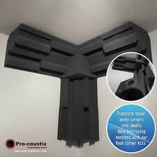 Pro-coustix Acoustic foam Corner Treatment Kit 6x Bass Traps 1x Corner Cubes