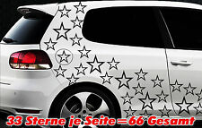 66 Sterne Star Auto Aufkleber Set Sticker Tuning Shirt Stylin WandtattooTribel q