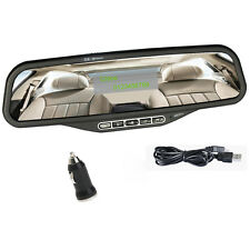 Bluetooth Handsfree Car Kit Speakerphone Rearview Mirror FM Transmitter MP3 Play