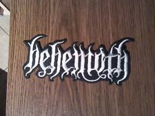 BEHEMOTH,IRON ON WHITE EMBROIDERED PATCH