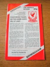 13/02/1979 Liverpool v Birmingham City [Programme Dated 13/01/1979 With 4 Page U