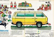 Publicité advertising 1984 (2 pages) VW Volkswagen Combi Caravelle Fourgon