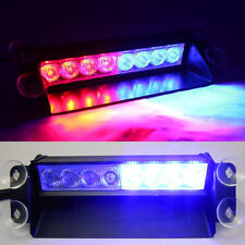 Useful Red & Blue 8 LED Car Dash Strobe Flashing Light Emergency Police Warning