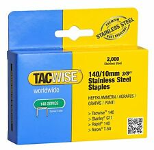 Tacwise 140/10mm (Arrow T50) Stainless Steel Staples (2,000 Per Box)