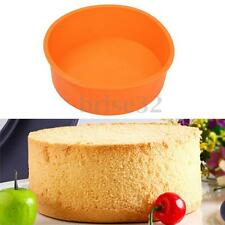 "7"" Christmas Round Silicone Cake Mold Pan Muffin Pizza Pastry Baking Tray Mould"