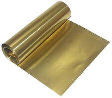 Brass Foil Sheet 165mm x 0.1mm x 2.5m non adresive Mouldmaking Craft