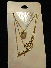 3 gold tone Katy Perry necklaces Prism Katy cat Meow kitty Pop Culture Music