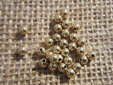 Approx 100 Gold GP Plated Metal Spacer Beads 3mm Ball