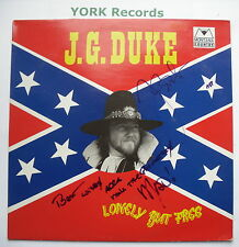 J G DUKE - Lonely But Free *SIGNED* - Ex LP Record Montana Country LP60 310001