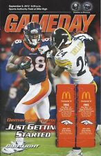 2012 NFL STEELERS @ BRONCOS FOOTBALL PROGRAM - PEYTON MANNING FIRST GAME