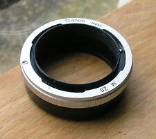 ORIGINALE Canon Fl Fd Plain manuale 20mm Extension Tube M20