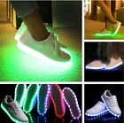 LADIES WOMENS LIGHT UP LED LACE UP TRAINERS CELEB SNEAKERS LUMINOUS SHOES SIZE