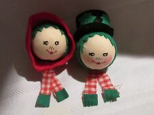 SNOWMAN & SNOWLADY HEADS TO PUT ON YOUR CHEESE BALL FROM FIGIS