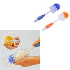 2 in 1 Baby Milk Feed Bottle Nipple Glass Cup Nozzle Spout Tube Cleaning Brush.