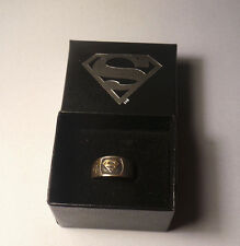 Superman Logo Ring - Solid Sterling Silver DC Direct 1998 - In Original Box