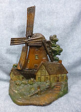 "Antique Greenblatt Studios #6 ""Windmill with Cottages"" Cast Iron Door Stop"
