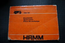 HAMM HW 90 Roller Compactor Parts Manual book catalog shop spare list used owner