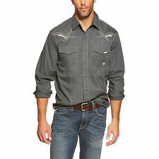 ARIAT - Men's Kruger Solid Snap Shirt - Dark Slate - ( 10015581) - Small - New