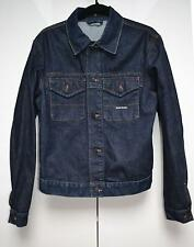 Stone Island Mens Denim Jacket Dark Blue Wash Sz M Medium 100% Cotton Designer