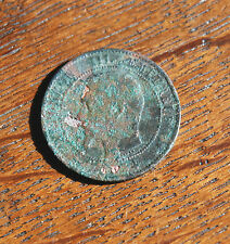NAPOLEON III FRENCH CENTIMES COIN partial date visible 1854