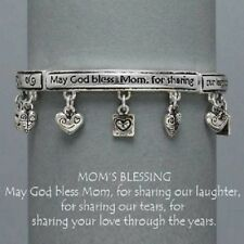 Mom's Blessing Love Laughter Tears Mother Family Jewelry Charm Bracelet #439-C