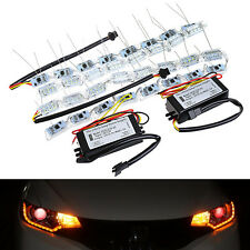 2 X Switchback LED Strip Light Flowing Sequential Signal Headlight Dual Color