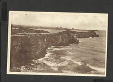 Vintage Frith's Sepia Postcard Porth Island & Newquay-Cornwall posted 1952?