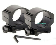 """a Pair 6 Bolts Low Profile Duty 30mm Ring Picatinny Rail 7/8"""" Rifle Scope Mount"""